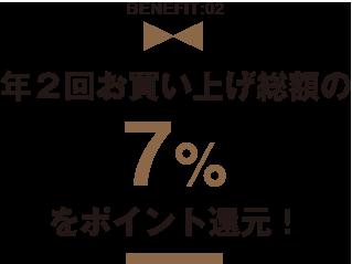 年2回7%還元